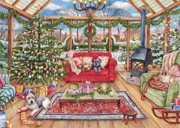 The Christmas Conservatory - 1000 Pieces