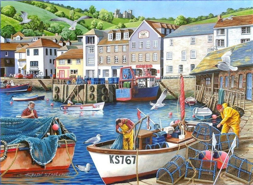 Busy Harbour - 1000 Piece Puzzle|Yorkshire Jigsaw Store