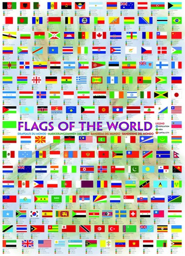Flags of the World - 1000 Pieces