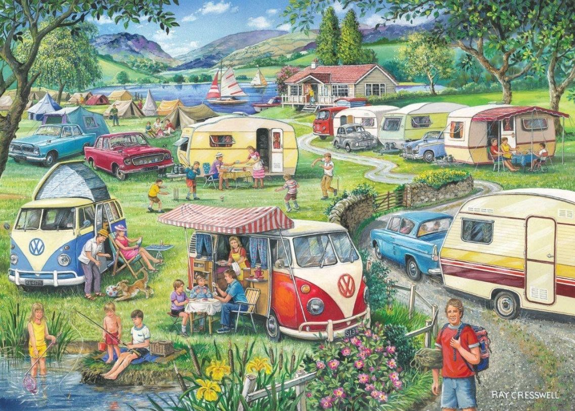 Happy Holidays 1000 Piece Puzzle Yorkshire Jigsaw Store