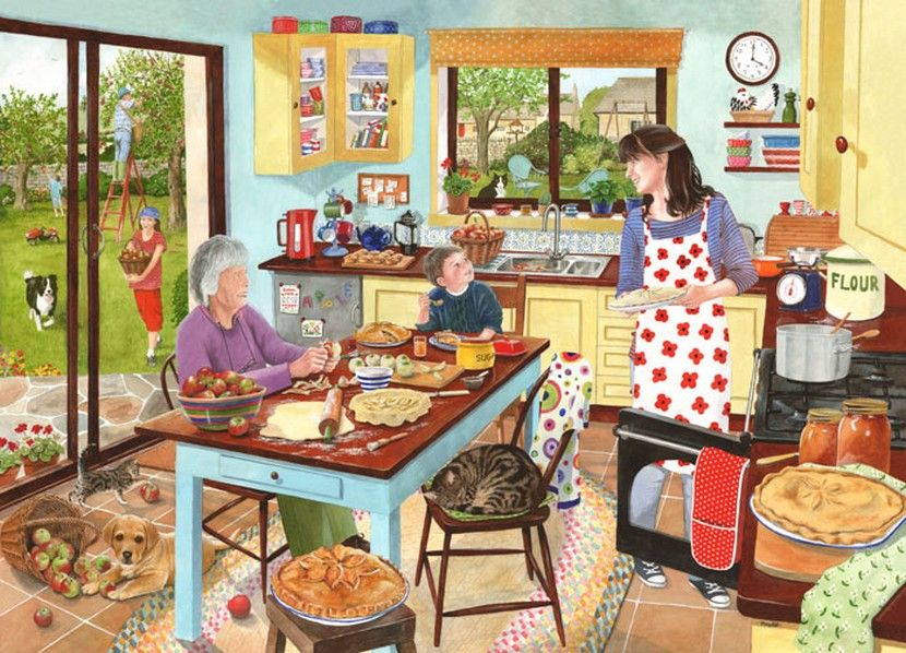 Baking Apple Pie - 1000 Pieces|Yorkshire Jigsaw Store
