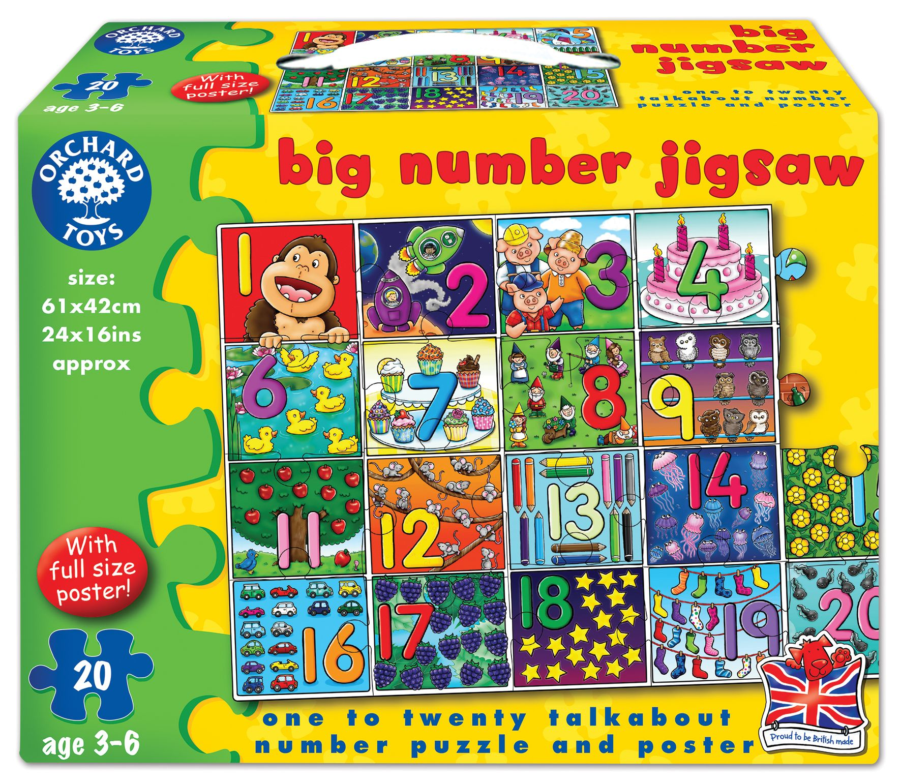 Big Number Jigsaw Puzzle Orchard Toys