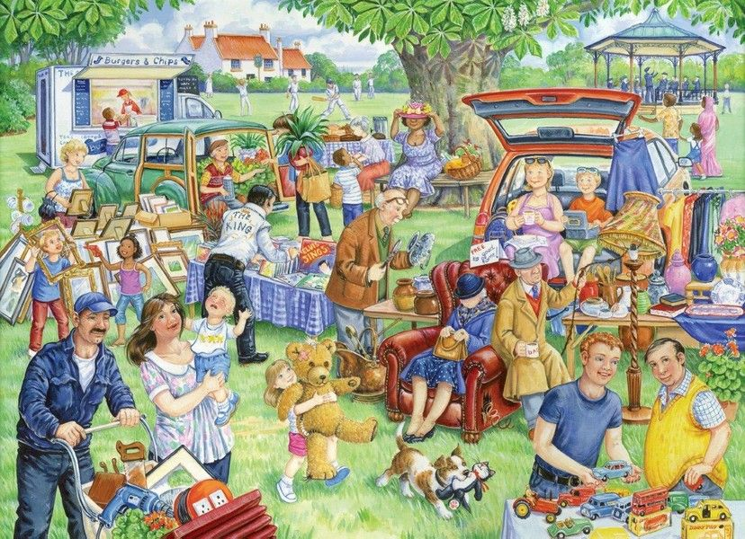 Car Boot Sale 1000 Pieces Yorkshire Jigsaw Store