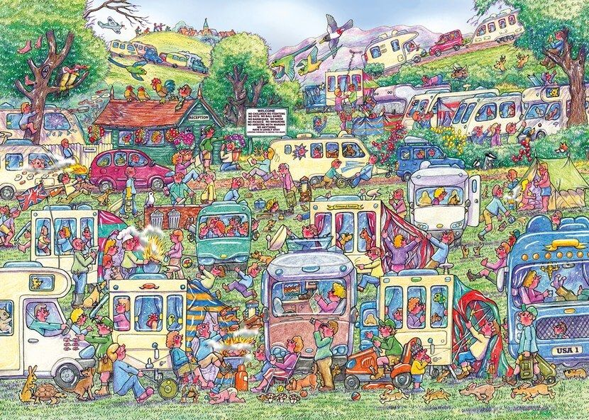 Caravan Chaos - 1000 Pieces |Yorkshire Jigsaw Store