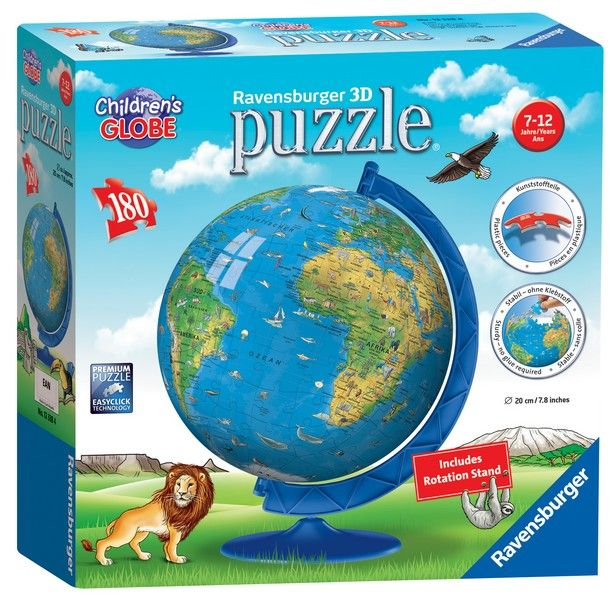 Children World Map 3D Jigsaw- 180 Pieces