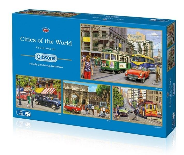 Cities of the World 4 X 500 Pieces|Yorkshire Jigsaw Store