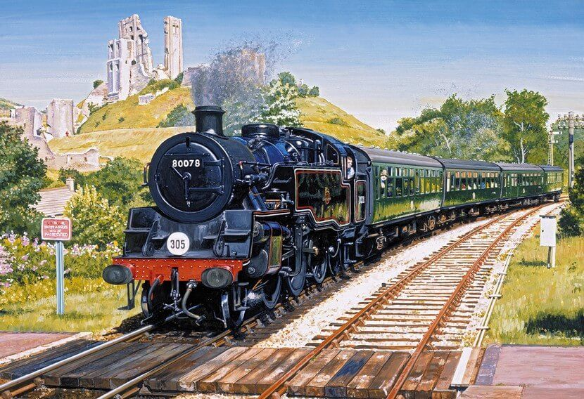 Corfe Castle Crossing - 500 Pieces |Yorkshire Jigsaw Store