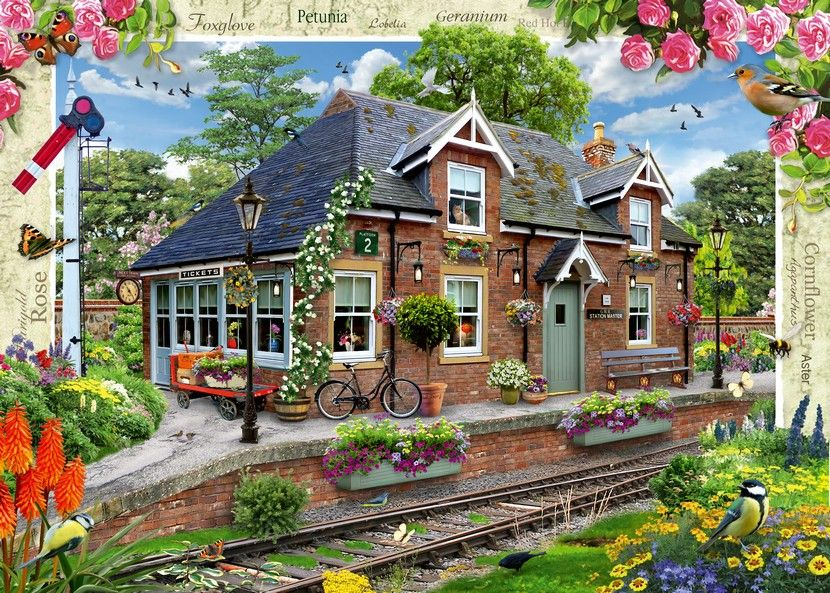 Country Cottage - Railway Cottage - 1000 Pieces