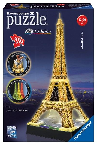 Eiffel Tower by Night 3D Jigsaw