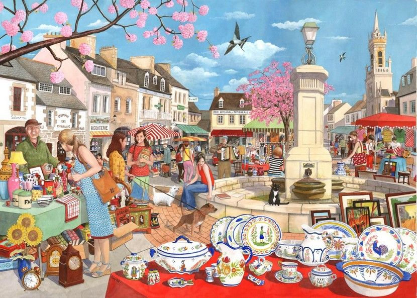 French Market - 1000 Pieces|Yorkshire Jigsaw Store