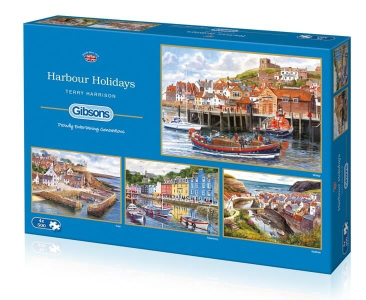 Harbour Holidays - 4 x 500 Pieces |Gibsons Jigsaws