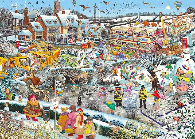 I Love Winter 1000 Piece Puzzle Yorkshire Jigsaw Store
