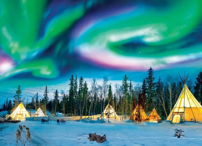 Northern Lights Yellowknife - 1000 Pieces