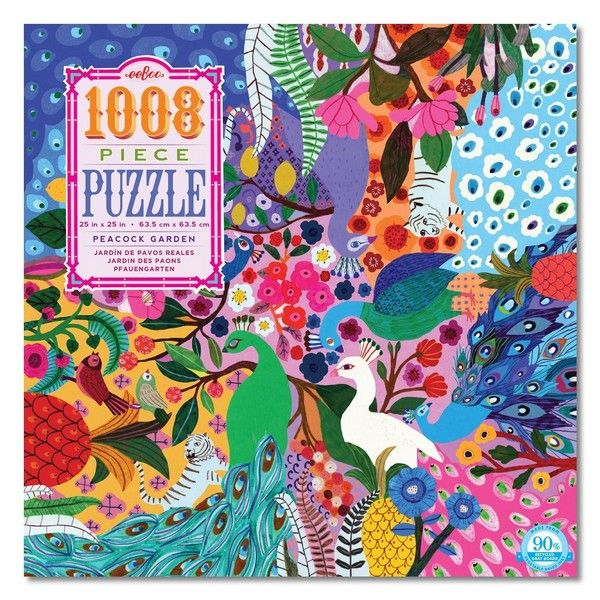 Peacock Garden - 1000 Pieces |Eeboo Jigsaw