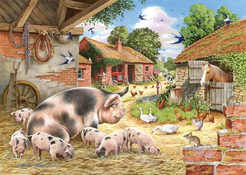 Poppy's Piglets - 500XL Pieces