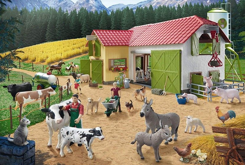 Schleich - A Day at the Farm 40 Pieces