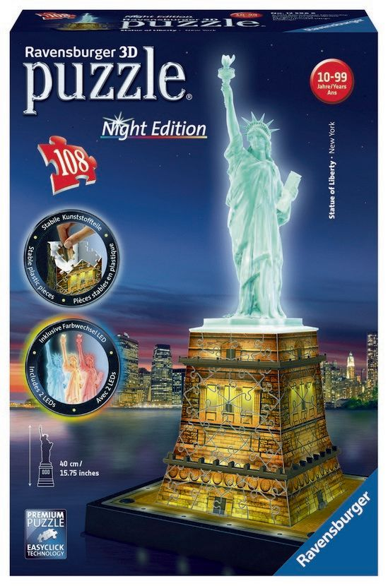 Statue of Liberty 3D Jigsaw - Night Edition