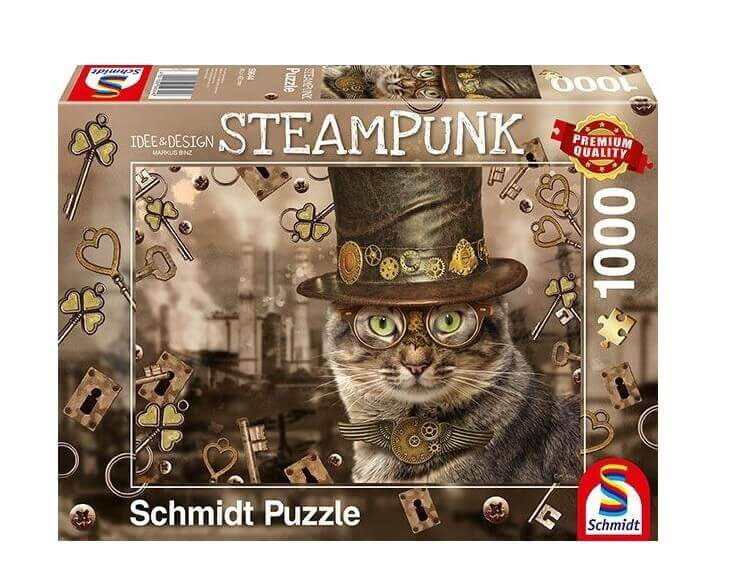 Steampunk Cat  - 1000 Pieces
