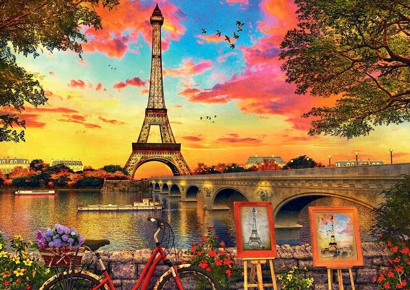 Sunset in Paris - 3000 Pieces