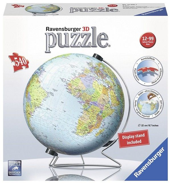 The World on V-Stand 3D Jigsaw