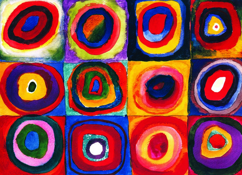 Wassily Kandinsky - Color Study of Squares - 1000 Pieces