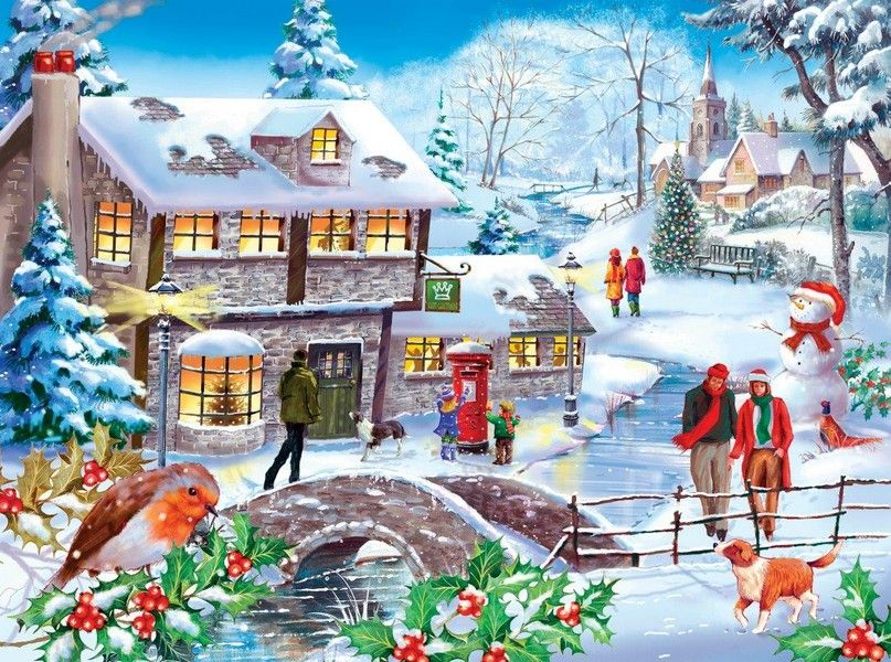 Winter Walk Lynvale Collection Yorkshire Jigsaw Store